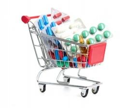 carrito medicamentos de colores