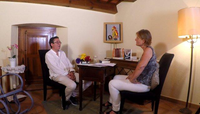 Félix Rodrigo y Alícia Ninou durante la entrevista